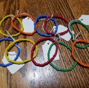 Twist Bead Stretch Bracelet Lot